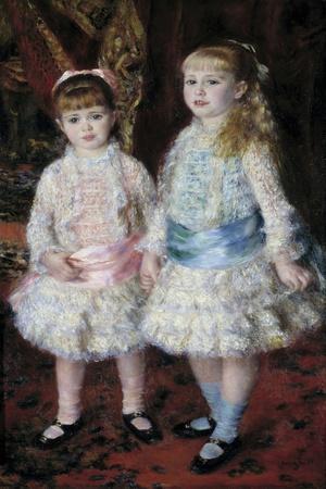 Pink and Blue or Portrait of the Demoiselles Cahen D'anvers by Pierre Auguste Renoir