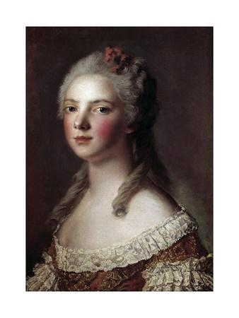 Portrait of Marie Adelaide of France known as Madame Adelaide by Jean-Marc Nattier