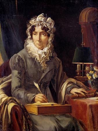 Portrait of Felicite Stephanie Ducrest by Louis Edouard Rioult