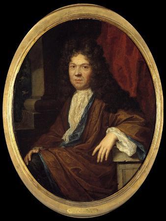 Portrait of Jean De La Bruyere - by Gaspar Netscher