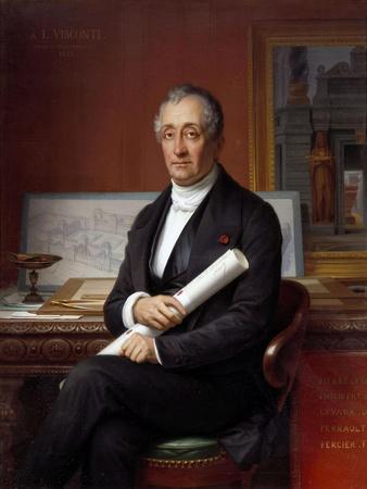 Portrait of Louis Tullius Visconti - by Theophile Vauchelet