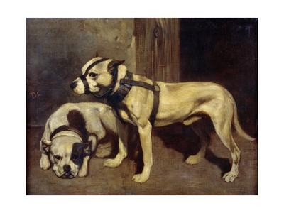 Bulldog and Scottish Terrier by Alexandre Gabriel Decamps