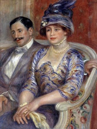 Portraits of Mr. and Mrs. Bernheim De Villers by Pierre Auguste Renoir