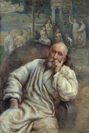 Portrait of Pierre Puvis De Chavannes by Marcellin Gilbert Desboutins