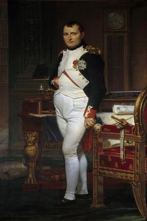 Portrait of Napoleon Bonaparte in His Study at the Tuileries Palace by Jacques-Louis David