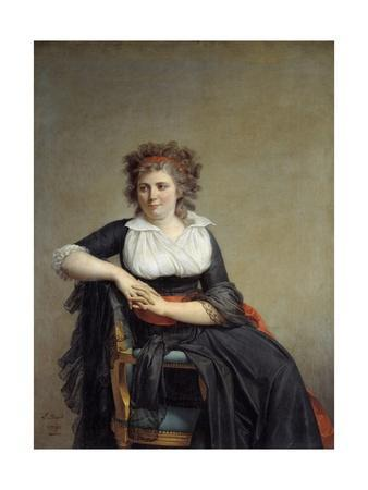 Portrait of the Marquise D'orvilliers by Jacques Louis David