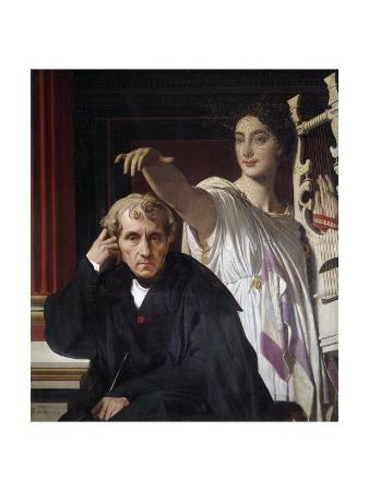 Portrait of Luigi Cherubini, with the Muse of Lyric Poetry - By