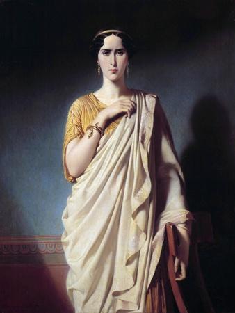 Portrait of Elisabeth Felix Called Mademoiselle Rachel by Edouard Louis Dubufe