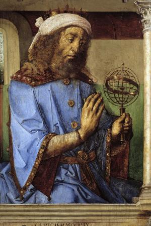 Portrait of Ptolemy - by Pedro Berruguete and Juste De Gand