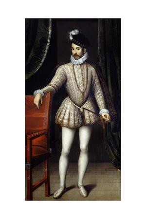 Portrait of Charles Ix, King of France - by Francois Clouet