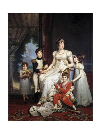 Portrait of Caroline Bonaparte and Her Children by Francois Gerard