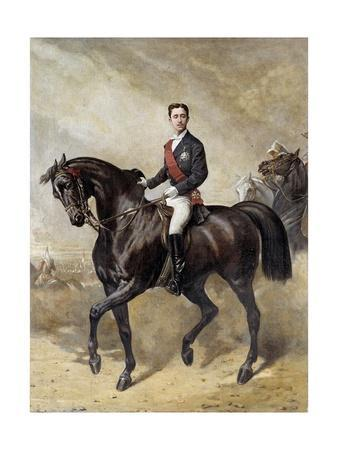 Equestrian Portrait of the Prince Eugene Louis Napoleon by Charles Porion