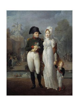 Portrait of Napoleon I and Marie Louise with their Son