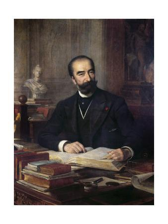 Portrait of Sadi Carnot at His Desk - by Theobald Chartran