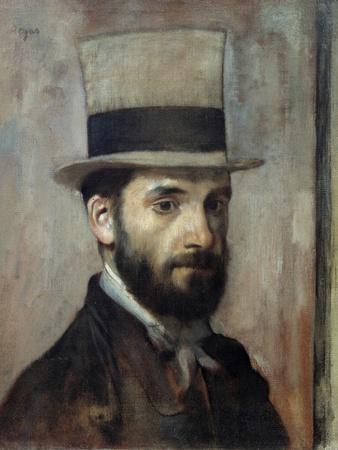 Portrait of Leon Bonnat by Edgar Degas