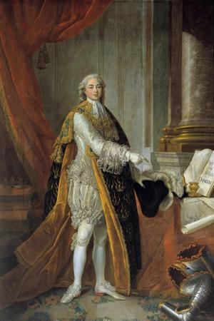 Full-Length Portrait of Louis Stanislas Xavier De France by Francois Hubert Drouais