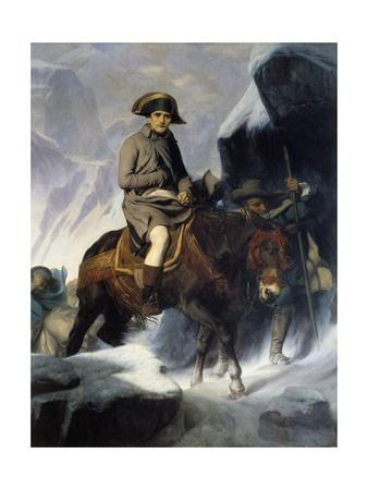 Portrait of Napoleon Bonaparte Crossing the Saint Bernard in 1800 by Paul Delaroche