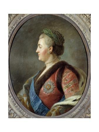 Portrait of Catherine Ii, Empress of Russia - after Pietro Antonio Rotari
