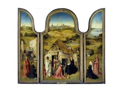 Adoration of the Magi or the Epiphany - by Hieronymus Bosch