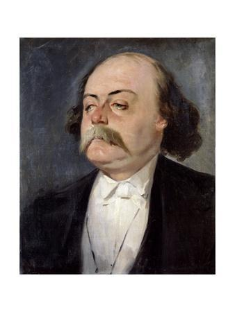 Portrait of Gustave Flaubert - by Eugene Giraud