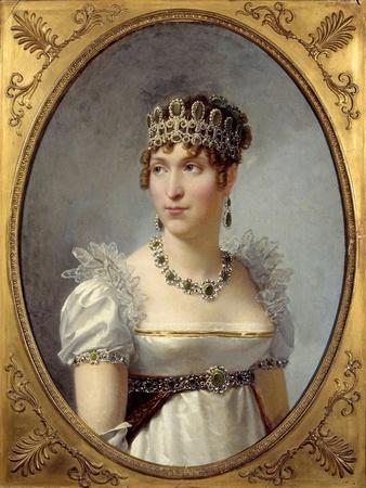 Portrait of Queen Hortense De Beauharnais - by Jean-Baptiste Regnault