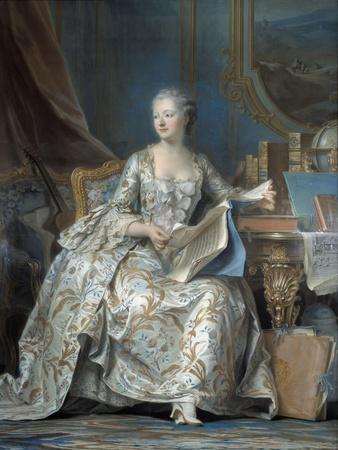 Portrait of Madame De Pompadour by Maurice Quentin Delatour