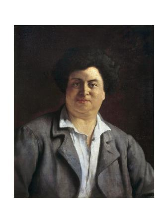 Portrait of Alexandre Dumas Pere - by Charles Alphonse Bellay