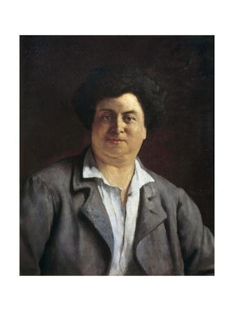 Portrait of Alexandre Dumas Pere - by Charles Alphonse Bellay