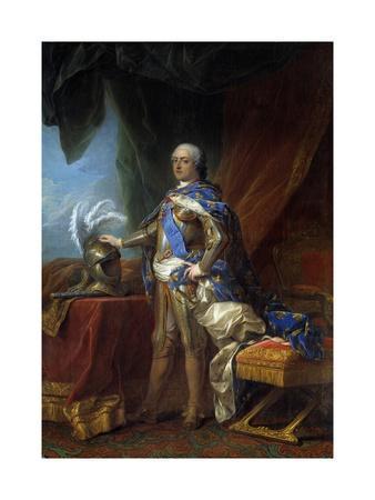 Portrait of Louis XV - by Carle Van Loo's Studio