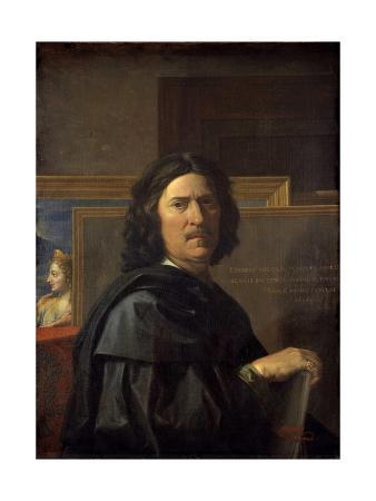 Self-Portrait at the Age of 56 Years - by Nicolas Poussin