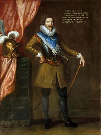 Portrait of Philippe De Bethune Attributed to Philippe De Champaigne
