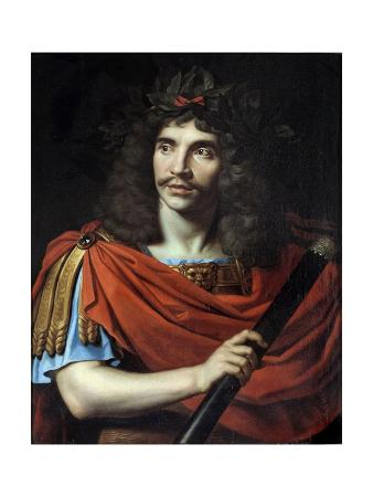 Portrait of Jean-Baptiste Poquelin, known as Moliere