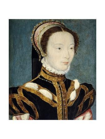 Portrait of Jeanne D'halluin by Corneille De Lyon