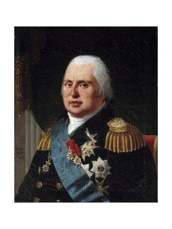Portrait of Louis XVIII - by Robert Lefebvre