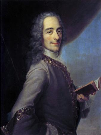 Portrait of Voltaire after Maurice Quentin De La Tour