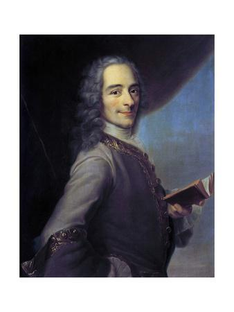 Portrait of Voltaire after Maurice Quentin De La Tour