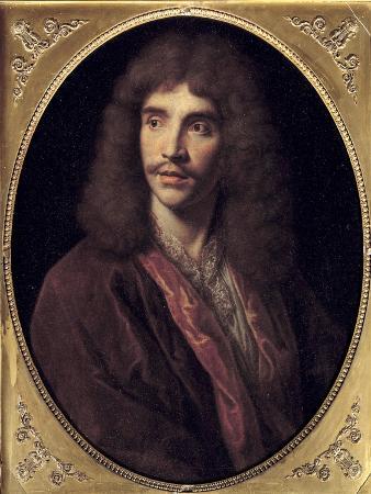 Portrait of Moliere by Nicolas Mignard