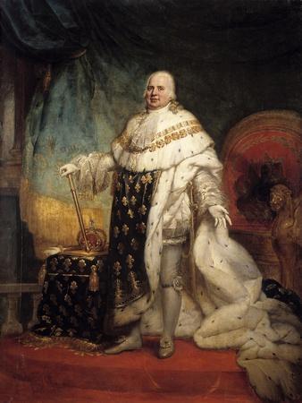 Portrait of Louis XVIII in Coronation Robes