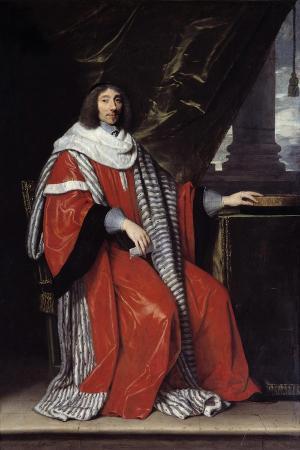 Portrait of Jean Antoine De Mesme by Philippe De Champaigne