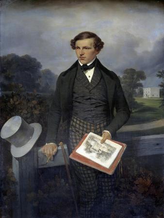 Portrait of Gustave De Maupassant by Hippolyte Bellange
