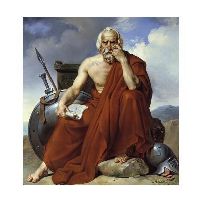 Portrait of Lycurgus, Legislator of Sparta by Merry Joseph Blondel (