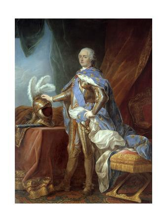 Portrait of Louis XV in Armor by Carle Van Loo