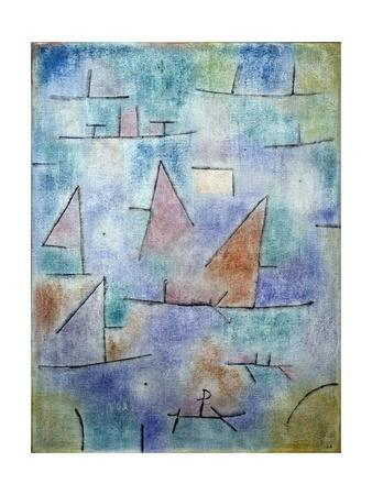 Harbour and Sailboats by Paul Klee