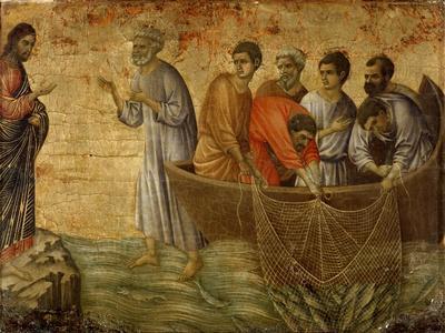 The Apparition on the Lake of Tiberiade by Duccio Di Buoninsegna