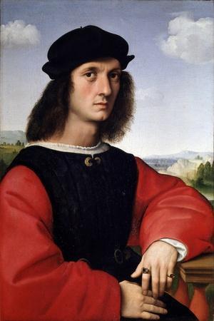 Portrait of Agnolo Doni - Oil on Panel by Raphael