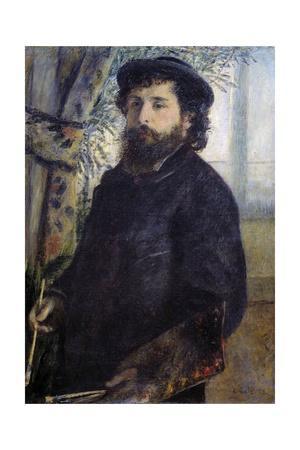 Portrait of Claude Monet, by Pierre Auguste Renoir