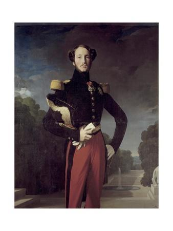 Portrait of Ferdinand Philippe, Duke of Orleans, by Jean-Auguste-Dominique Ingres