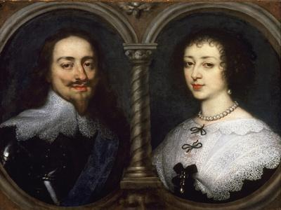 Portrait of Charles I and Henrietta Maria of England by Anthonie