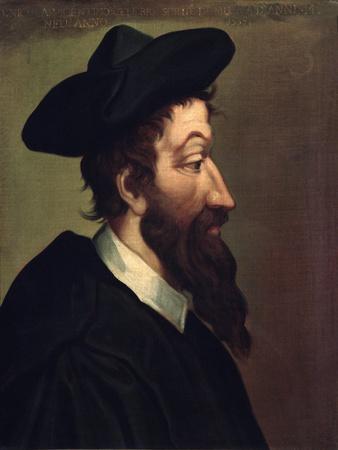 Portrait of Italian Composer Nicola Vicentino