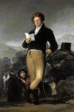 Portrait of Don Francisco De Borja Tellez Giron by Francisco De Goya